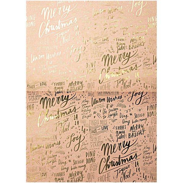 Rico Design Paper Patch Papier Schrift Jolly Christmas pastell 30x42cm