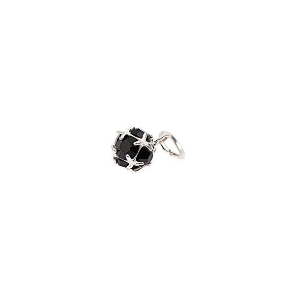 Rico Design Glasschliffanhänger versilbert schwarz 10mm