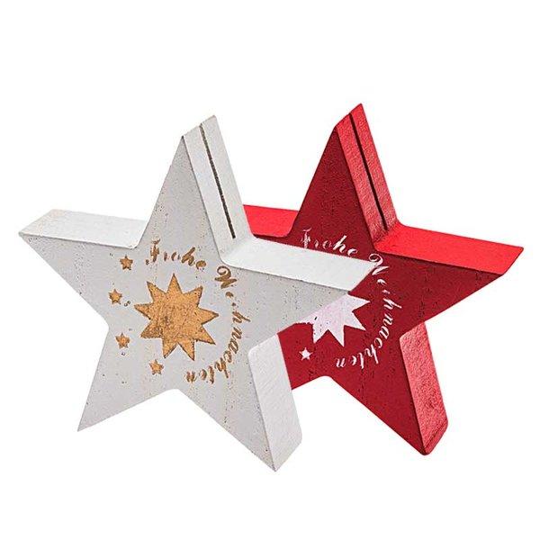 Tischkartenhalter Stern Frohe Weihnachten 8,5cm