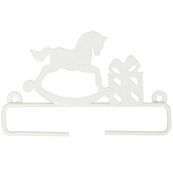 Rico Design Dekobügel Schaukelpferd weiß 11cm Metall