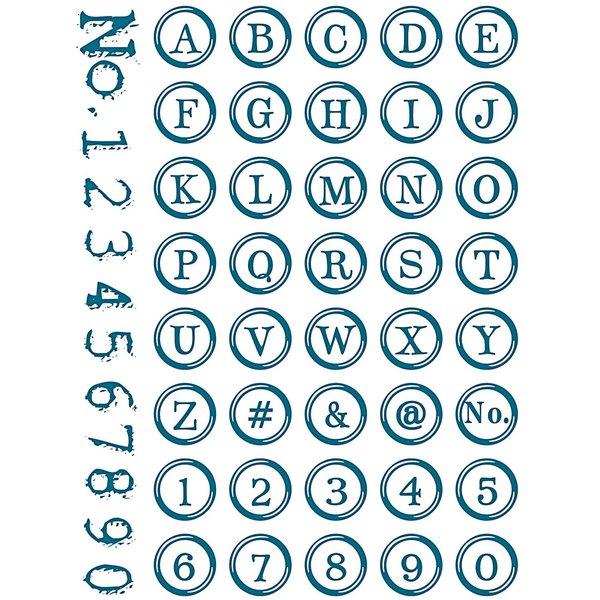 Paper Poetry Silikonstempel Alphabet und Zahlen rund 15,5x24,5cm