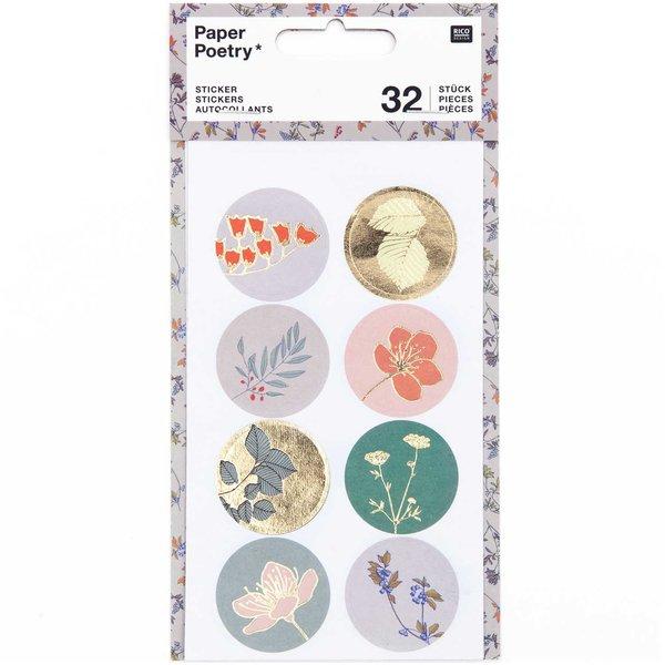 Paper Poetry Sticker Pflanzen klein 4 Blatt