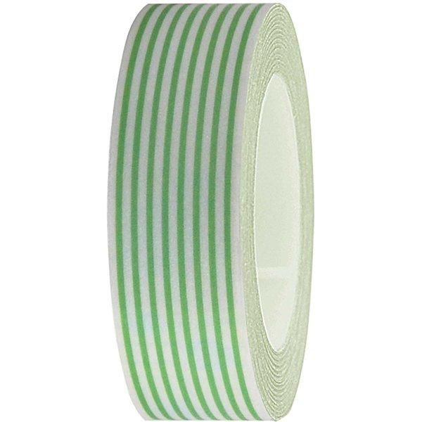 Rico Design Tape weiß-grün gestreift 15mm 10m