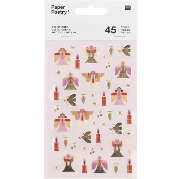 Paper Poetry Gelsticker Engel 1 Blatt