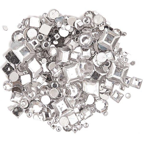 Rico Design Strass Mix Kreis und Quadrat transparent ca. 800 Stück