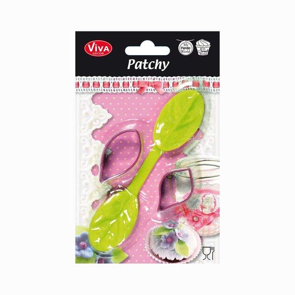 VIVA DECOR Patchy Blatt mit Ausstanzer 14cm