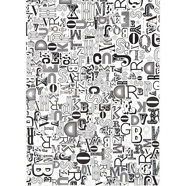 Rico Design SB Paper Patch Papier Buchstaben 30x42cm 3 Bogen Hot Foil