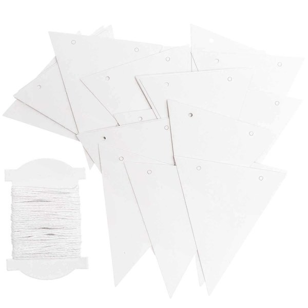 Ohhh! Lovely! Papierwimpel weiß 24 Stück