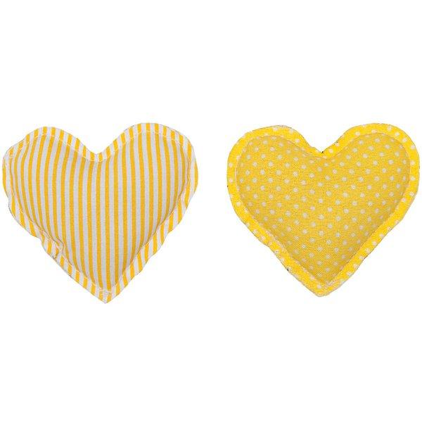 Rico Design Stoffherzen gelb 2 Stück
