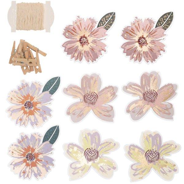 Paper Poetry Papieranhänger Blüten 8 Stück