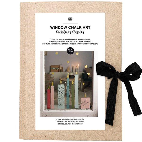 Rico Design Vorlagenmappe Fenster- und Glasmalerei mit Kreidestiften Christmas Classics