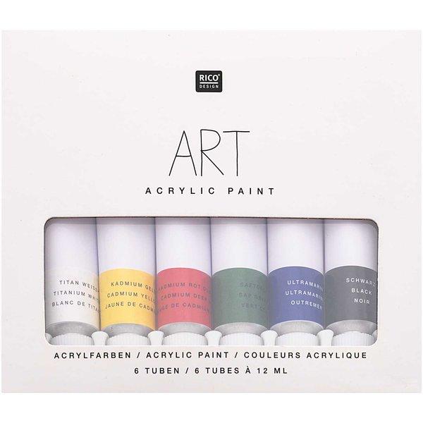 Rico Design ART Künstler Acrylfarben-Set Basic 6x12ml