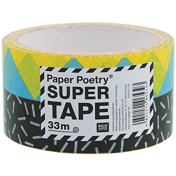 Paper Poetry Paketklebeband 90er schwarz 5cm 33m