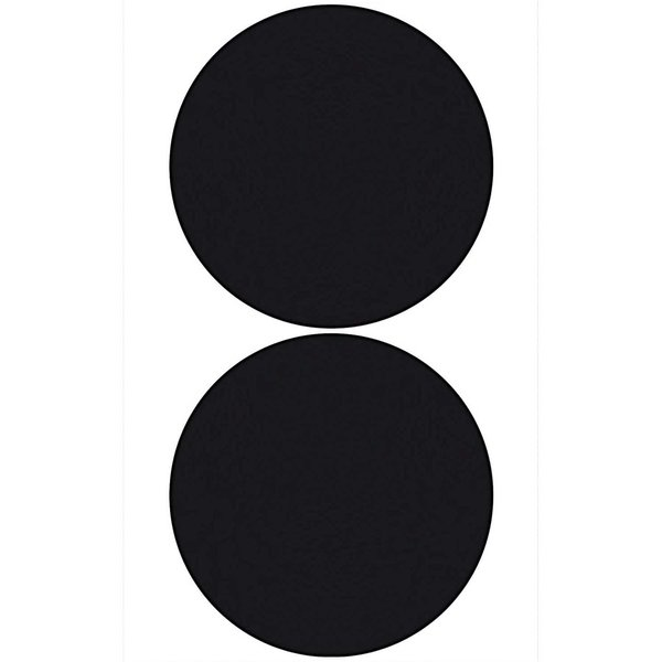 Paper Poetry Tafelfolien Sticker Kreise schwarz groß 2 Stück