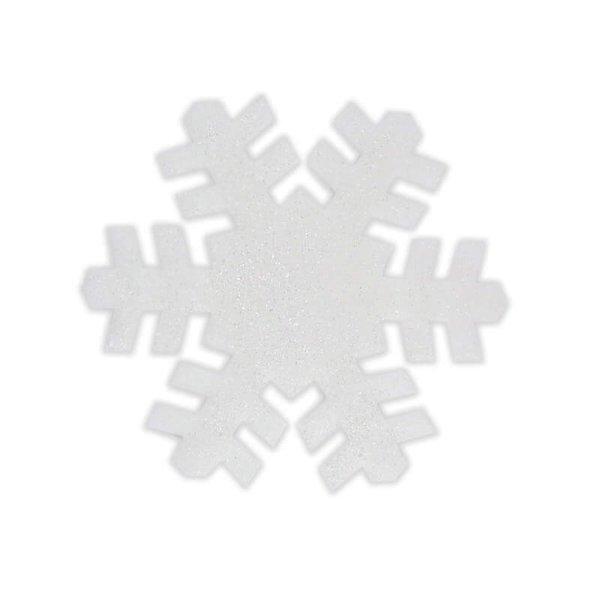 Deko Schneeflocke mit Glitter 35cm