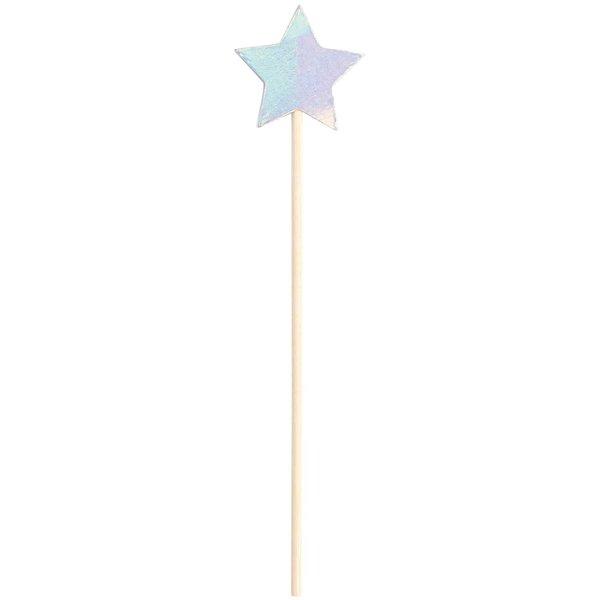 YEY! Let's Party Picker Stern irisierend 15cm 24 Stück