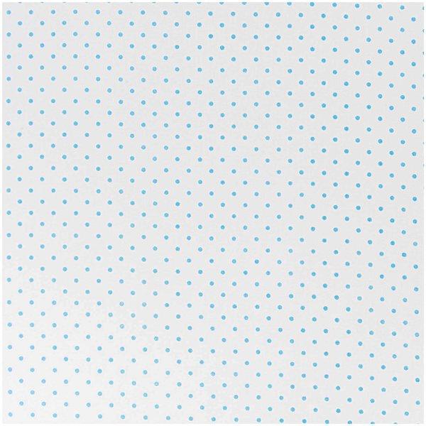 Rico Design Stoff weiß-hellblaue Pünktchen 160cm