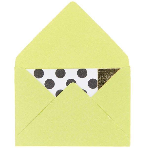 Paper Poetry Mini Briefe hellgrün 3x4,5cm 10 Stück