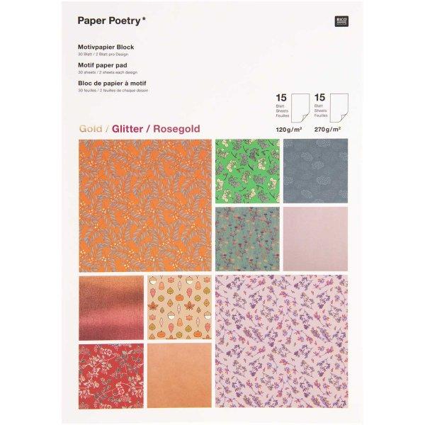 Paper Poetry Motivpapierblock Funny Fall 30 Blatt