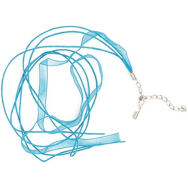 Jewellery Made by Me Organza Collier hellblau 50cm