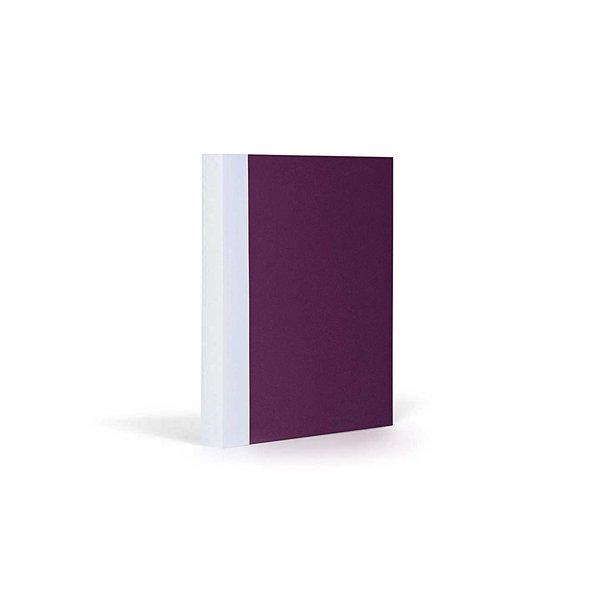 FANTASTICPAPER Notizbuch A6 kariert aubergine-white