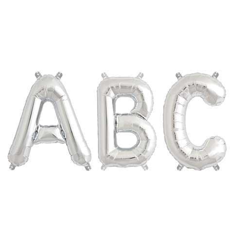 Rico Design Folienballon Buchstabe silber 36cm