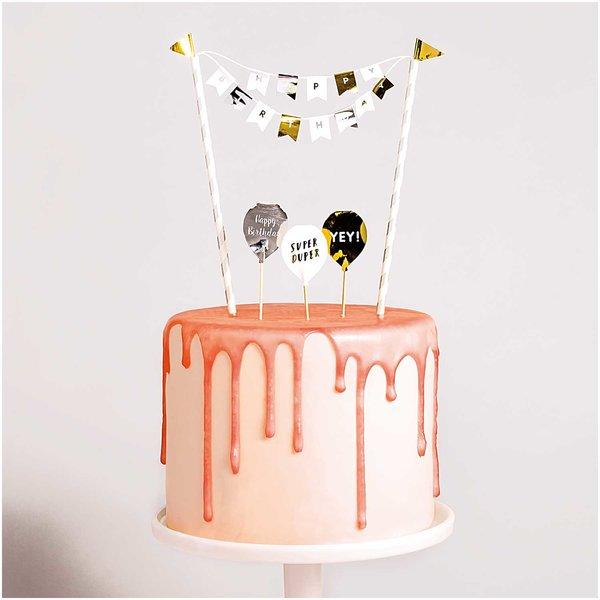 YEY! Let's Party Kuchendekoration Happy Birthday classic