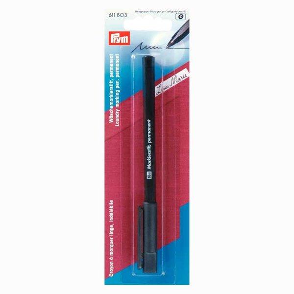 Prym Markierstift permanent für Wäsche schwarz