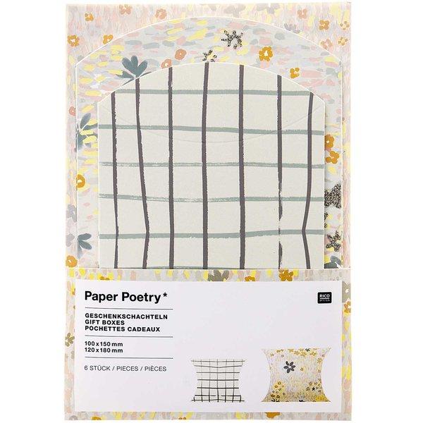 Paper Poetry Geschenkschachteln Crafted Nature Gitter 6 Stück