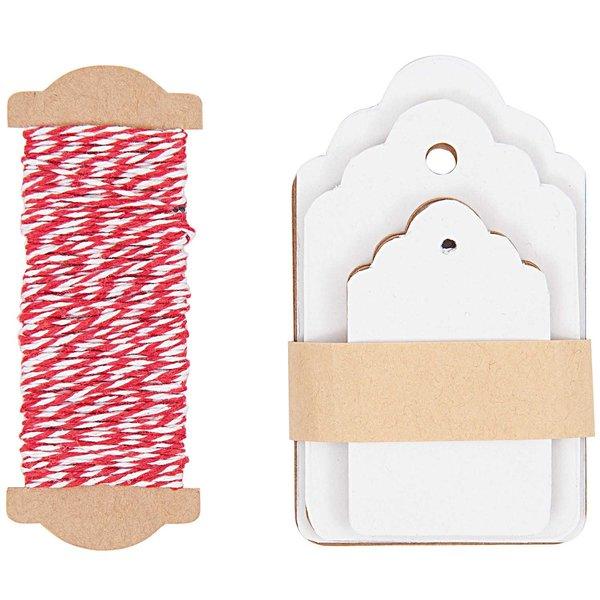 Paper Poetry Geschenkanhänger Ornament weiß 30 Stück