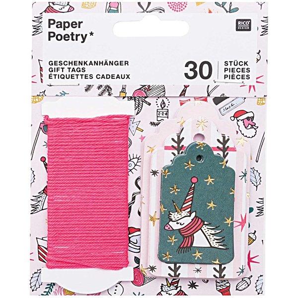 Paper Poetry Geschenkanhänger Magical Christmas 30 Stück