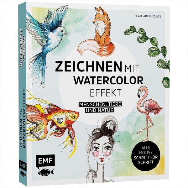 EMF Zeichnen mit Watercolor-Effekt