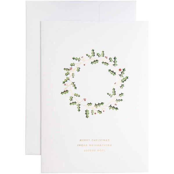 Paper Poetry Kartenset Kranz A5 weiß