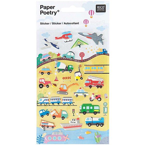 Paper Poetry Sticker Fahrzeuge I 10x19cm