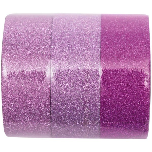 Paper Poetry Glitter Tape Set pink Mix 1,5cm 5m 3 Stück