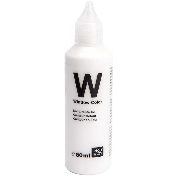 Rico Design Window Color Konturenfarbe weiß 80ml