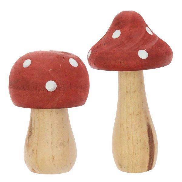 Ohhh! Lovely! Deko-Pilz aus Holz rot-weiß