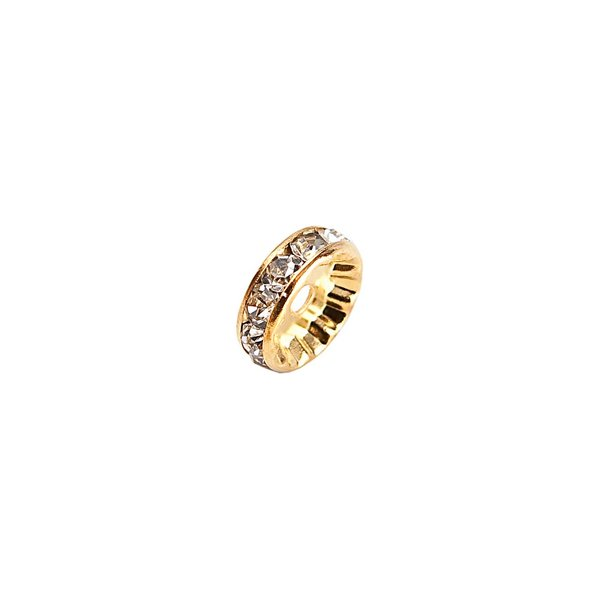 Rico Design Strassrondell glatt gold 7mm 6 Stück