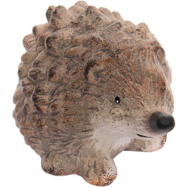 Igel aus Keramik braun 13x8,6cm