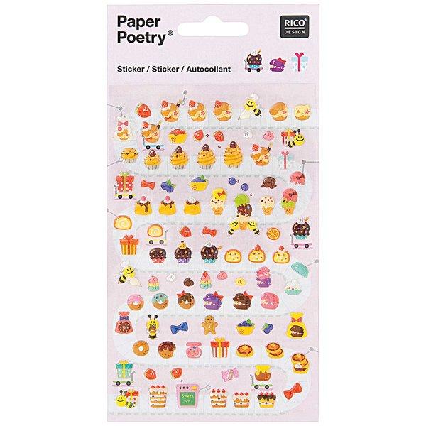 Paper Poetry Sticker süßes Gebäck