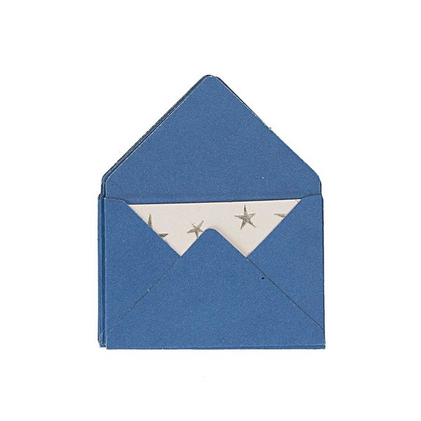 Paper Poetry Mini Briefe blau 3x4,5cm 10 Stück