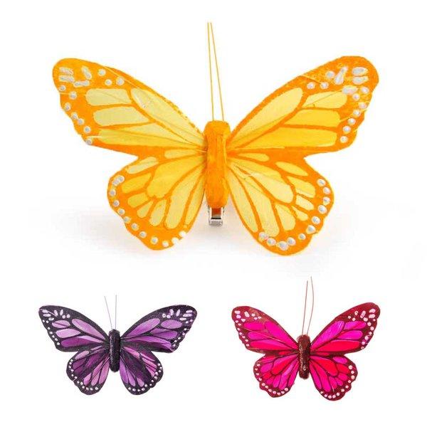 Schmetterling mit Clip 12cm