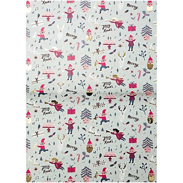 Rico Design Paper Patch Papier Klassik Jolly Christmas 30x42cm