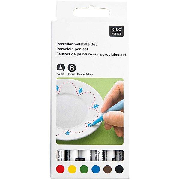 Rico Design Porzellanmalstifte Basic 6er Set