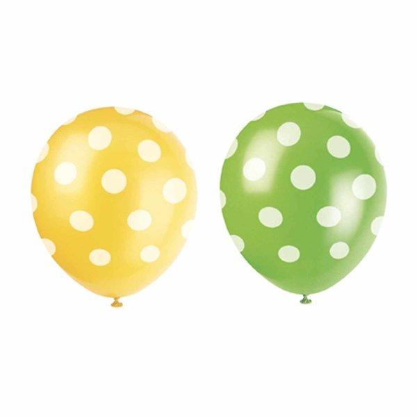 Partystrolche Luftballons gepunktet 30cm 6 Stück