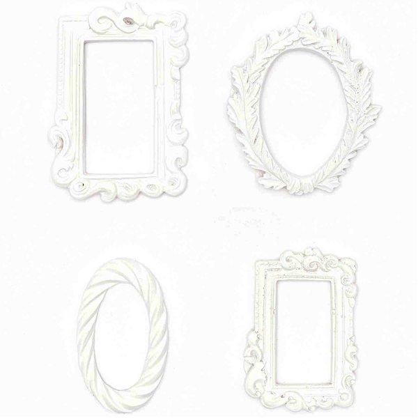 Dekorahmen Style 2 weiß 4 Stück