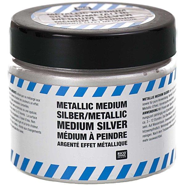 Rico Design Metallic Medium silber 187g