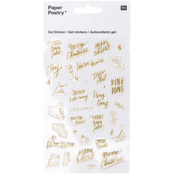 Paper Poetry Gelsticker Jolly Christmas Schrift