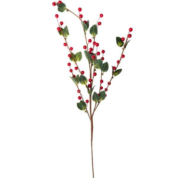 Beerenzweig mit Blättern rot-grün 70cm
