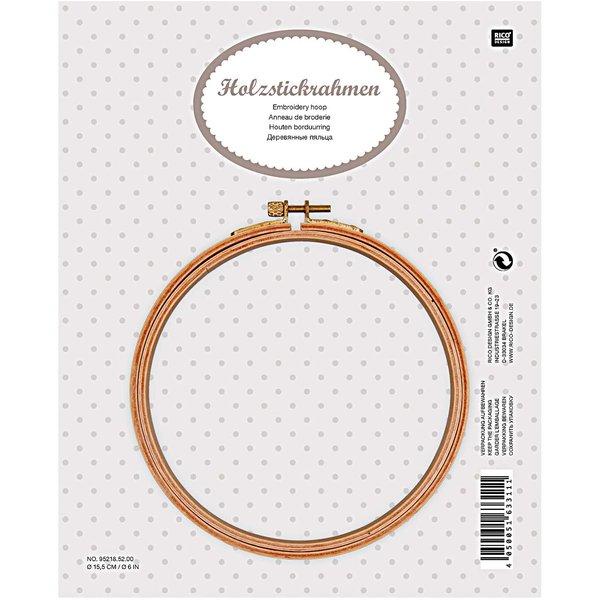 Rico Design Holzstickring 15,5cm
